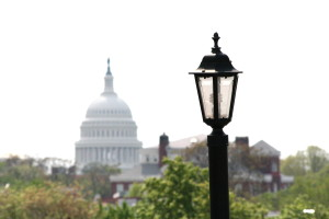 Capitol w light post